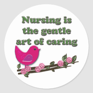 Nursing Is Caring Classic Round Sticker