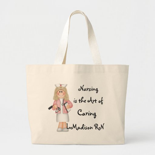 Nursing is the Art of Caring Tote Bags