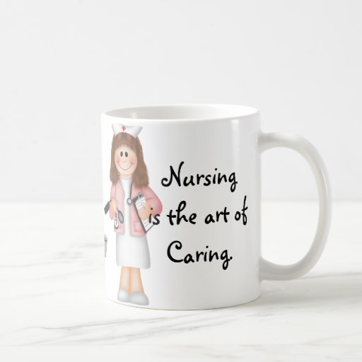 Nursing is the art of Caring Basic White Mug