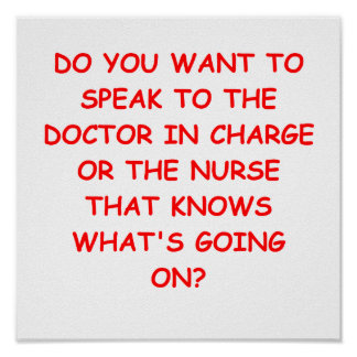 nursing joke poster