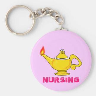 Nursing Lantern Basic Round Button Key Ring