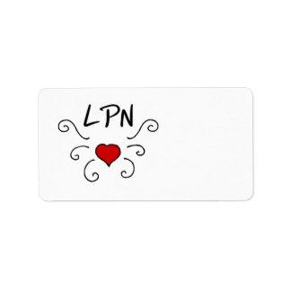 Nursing LPN Love Tattoo Address Label