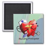 Nursing Preceptor Heart ARt Gifts Fridge Magnet