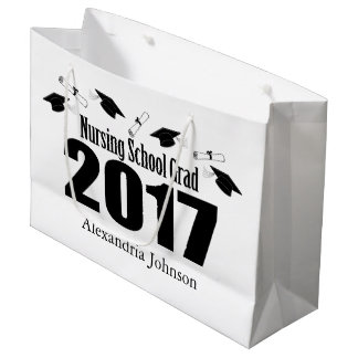 Nursing School 2017 Graduation Gift Bag (Black)