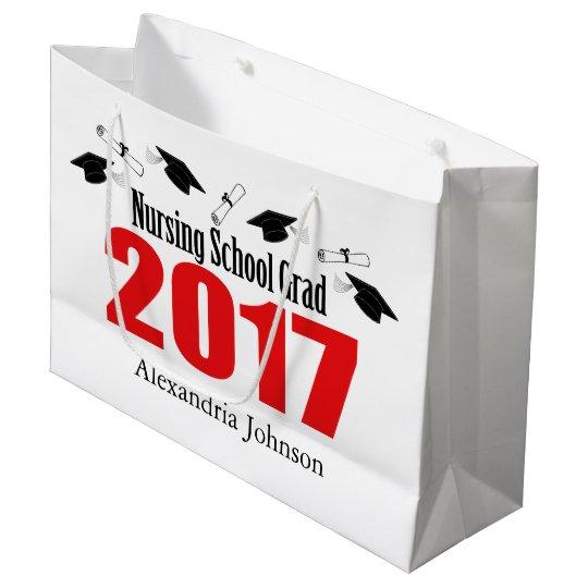 Nursing School 2017 Graduation Gift Bag (Red Caps)