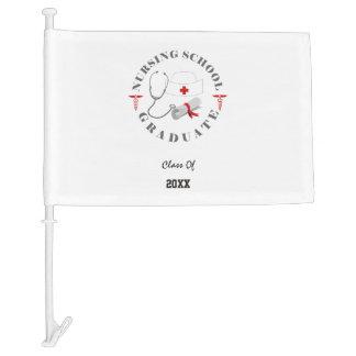 Nursing School Graduate Gear Car Flag