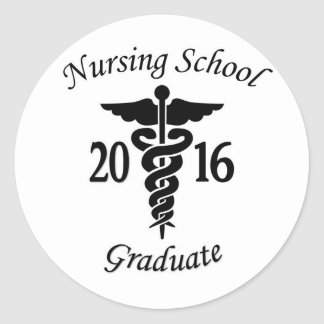 Nursing School Graduate Round Sticker