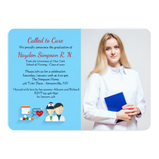 Nursing School Graduates Photo Invitation