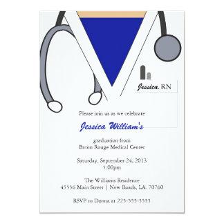 Nursing School Graduation 13 Cm X 18 Cm Invitation Card