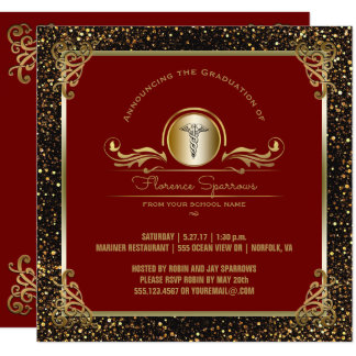 Nursing School Graduation Party   Pinning Ceremony Card