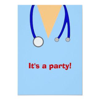 "Nursing School Graduation Party Scrubs Invites 5"" X 7"" Invitation Card"