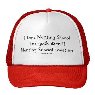 Nursing School loves Me Mesh Hats