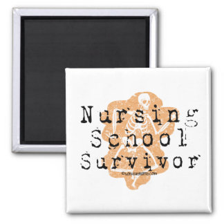 Nursing School Survivor Square Magnet