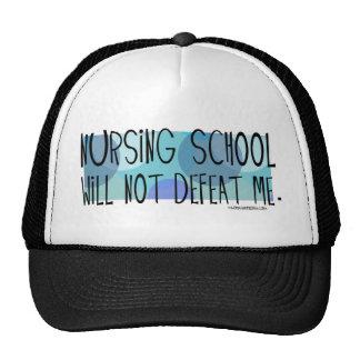 Nursing School will not Defeat Me Mesh Hats