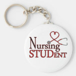 Nursing Student Basic Round Button Key Ring