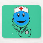 Nursing Student Big Blue Smiley Gifts Mouse Pad