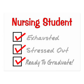 """Nursing Student """"Check Mark"""" T-Shirts & Gifts Post Cards"""