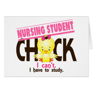 Nursing Student Chick 1 Greeting Card
