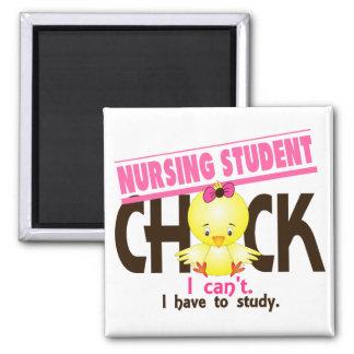 Nursing Student Chick 1 Square Magnet
