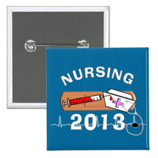 Nursing Student Class of 2013 15 Cm Square Badge