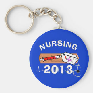 Nursing Student Class of 2013 Basic Round Button Key Ring