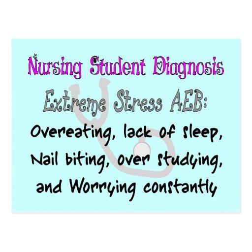 Nursing Student Dx: T-Shirts & Gifts Hilarious! Postcard