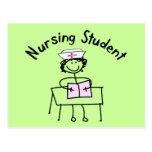 Nursing Student Stick Lady Gifts Postcard