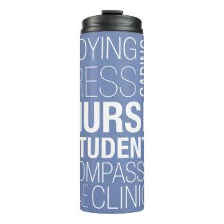 Nursing Student Text Thermal Tumbler