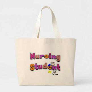 Nursing Student Watercolor Art Stick Person Nurse Jumbo Tote Bag