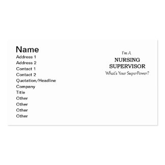 Nursing Supervisor Pack Of Standard Business Cards