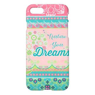 Nurture Your Dreams BOHO Chic Bohemian Modern Art iPhone 8/7 Case