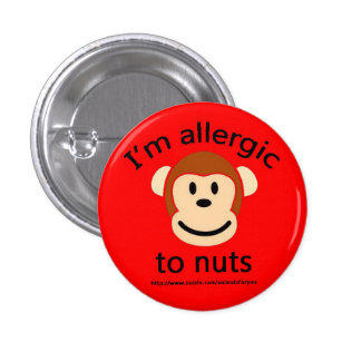 Nut Allergy Alert 3 Cm Round Badge