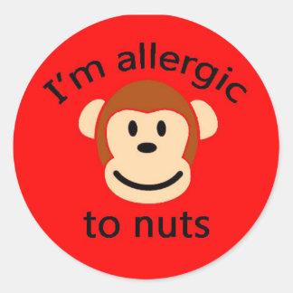 Nut allergy childrens sticker RED