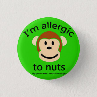 Nut Allergy Green 3 Cm Round Badge
