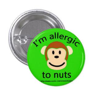 Nut Allergy Green 3 Cm Round Badge