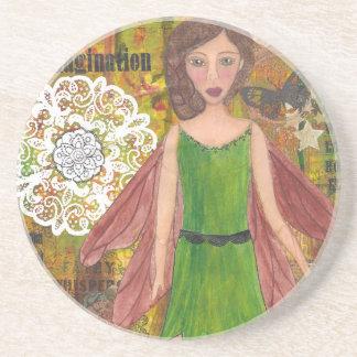 Nut Brown Fairy cropped.jpg Drink Coasters