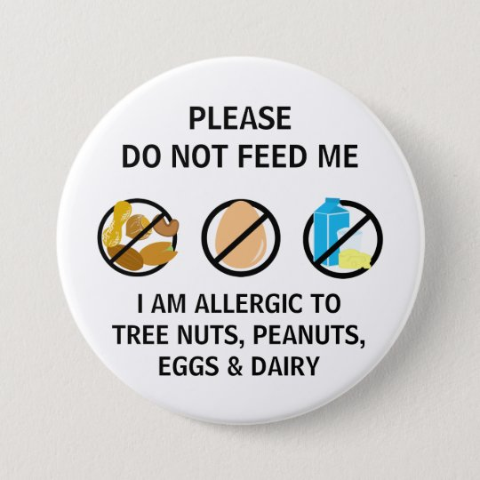 Nut Egg Dairy Allergy Do Not Feed Kids