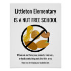 Nut Free School Sign Personalised With School Name