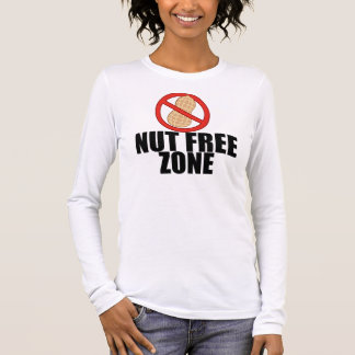 Nut Free Zone Long Sleeve T-Shirt