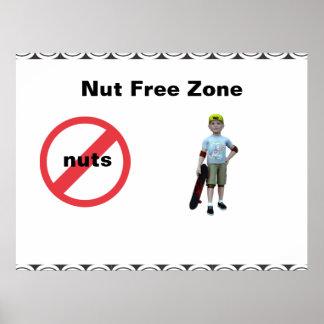 Nut Free Zone Print