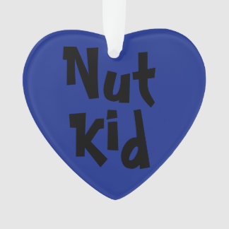 """Nut Kid"" 2-Tone Heart Ornament (Acrylic)"
