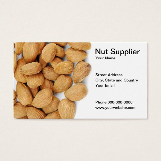 Nut Supplier Business Card