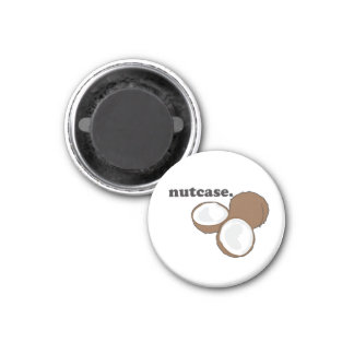 nutcase. (coconut) 3 cm round magnet