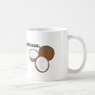 nutcase. (coconut) basic white mug