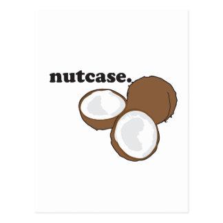 nutcase. (coconut) postcard