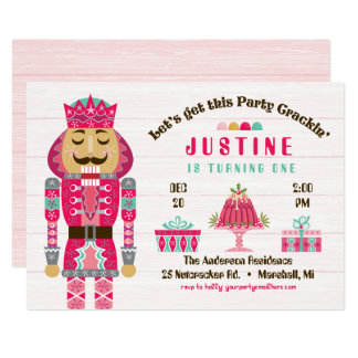 Nutcracker Birthday Party - Girl Card