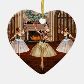 Nutcracker - Buon Natale Italian Heart Ornament