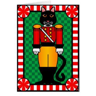 Nutcracker Cat Greeting Card