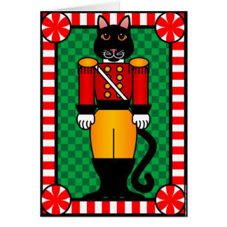 Nutcracker Cat Greeting Cards