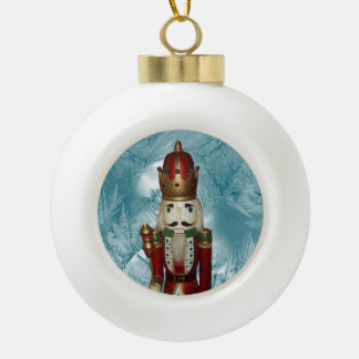 Nutcracker Ceramic Ball Ornament